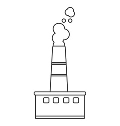 Factory chimney icon vector