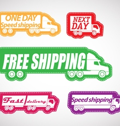Fast delivery stickers collection vector image vector image
