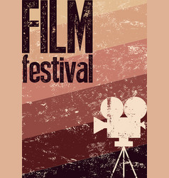 Film festival retro typographical grunge poster vector
