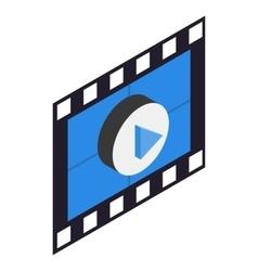 Filmstrip 3d isometric icon vector
