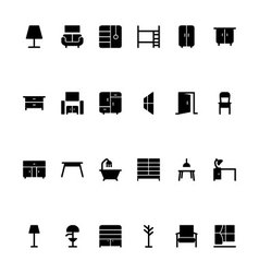Furniture Hand Drawn Icons 2 vector image vector image