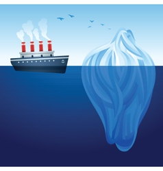 Iceberg ship vector