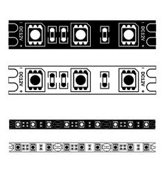 Led light strip seamless vector