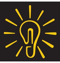 Light Bulb Ideas vector image