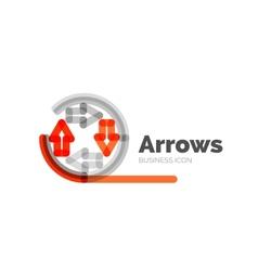 Line minimal design logo arrows vector image vector image