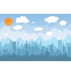 Morning city skyline vector image