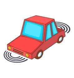 Parking assist system icon cartoon style vector