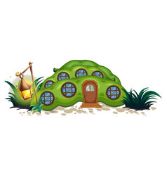 pea house with round windows vector image vector image