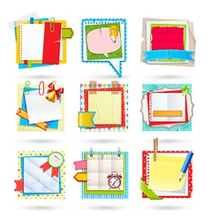 school notes vector image vector image