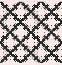 Seamless texture with square figures crosses vector