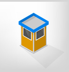 Security lodges isometric vector
