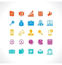 Set of business and money web icons vector image