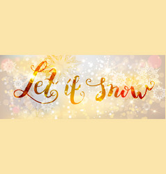 Snow gold banner vector