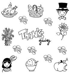 Thanksgiving doodle art vector