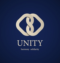 unity knot symbol design template vector image vector image