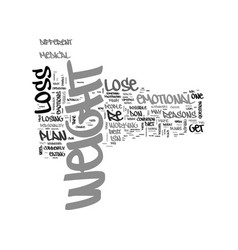 why can t i lose weight text word cloud concept vector image vector image