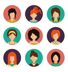 Women avatar set vector image vector image