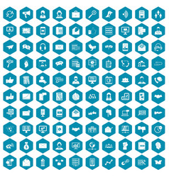 100 interaction icons sapphirine violet vector