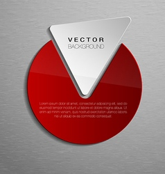 Red shape vector