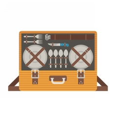 Portable picnic bag hamper vector