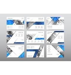 Brochure layout template flyer design vector