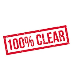 100 percent clear rubber stamp vector