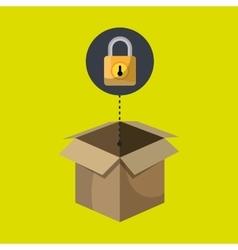 box padlock data secure vector image