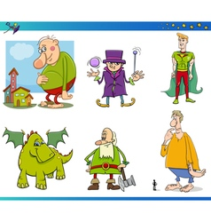 Fantasy characters set vector