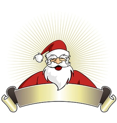 Christmas series happy santa claus with blank vector