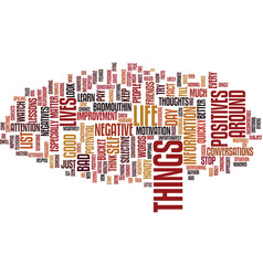 Look for the positives text background word cloud vector