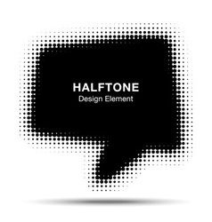 Bubble halftone design element for your design vector