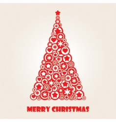 Stylized christmas tree vector