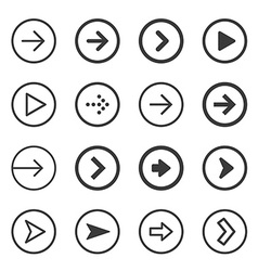 Clean and modern arrows sign icon set vector