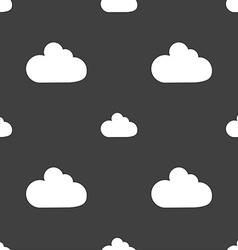 Cloud sign icon data storage symbol seamless vector