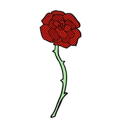 Rose tattoo comic cartoon vector