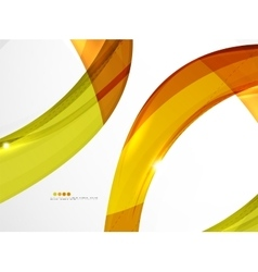 Leaf shape wave abstract background vector image