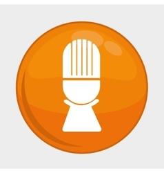 Microphone button icon social media design vector