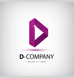 Letter d logo alphabet logotype design vector
