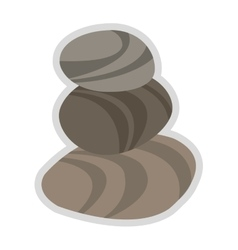 Spa stones icon vector