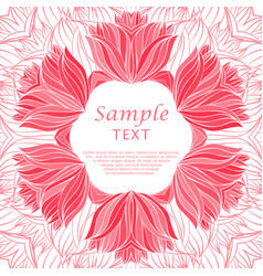 abstract floral hand drawn frame vector image vector image