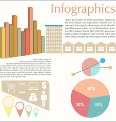An infochart of the buildings vector image