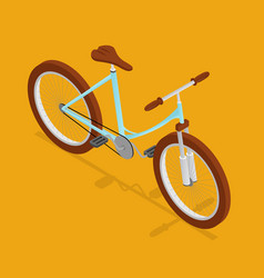 Bike retro isometric view vector