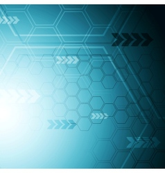 Blue hi-tech abstract background vector