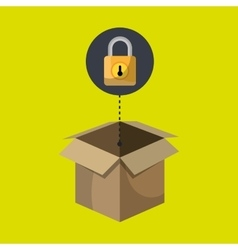 Box padlock data secure vector