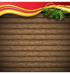 Christmas tree holly and decorative elements on vector image vector image