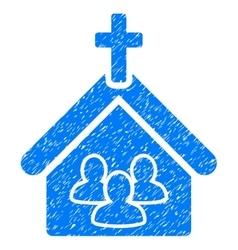 Church grainy texture icon vector