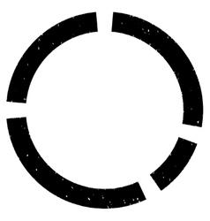 Circular diagram grainy texture icon vector