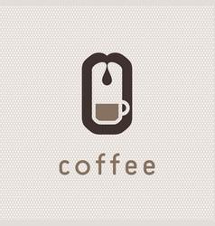 Coffee machine logo vector
