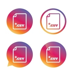 File document icon download csv button vector