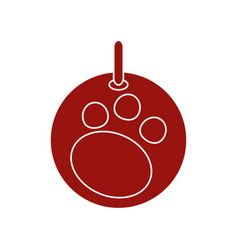 Footprint decorative ball vector